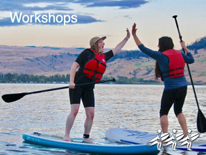 Become part of the SUP community and share the stoke, with one of our workshops.