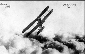 DH-4 over france 1918
