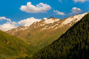 Blick in den Talschluss vom Langtauferer Tal mit Weisskugel, Bärenbartferner und Freibrunner Ferner