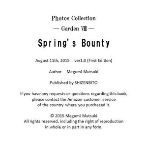 Photos Collection ― Garden 8 ― Spring's Bounty  Author Megumi Mutsuki