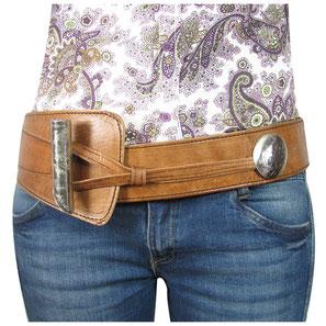 Almadih Leder Hüftgürtel Braun leather Waist Belt