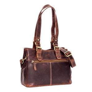 Almadih Ledertasche Leder Aktentasche Reisetasche Braun leather briefcase brown