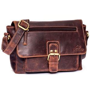 Almadih Ledertasche Leder Aktentasche Braun leather briefcase brown