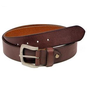 Almadih Leder Hüftgürtel braun braided leather belt
