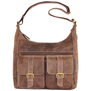 Almadih Leder Reisetasche Braun leather travel bag brown