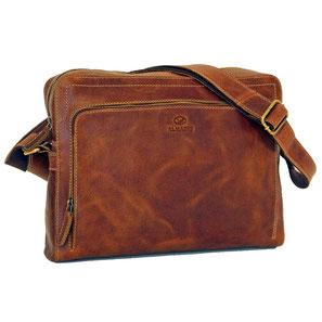 Almadih Ledertasche Leder Aktentasche Reisetasche Braun leather briefcase brown