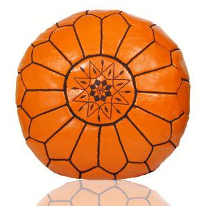 Almadih Leder Sitzkissen Orange