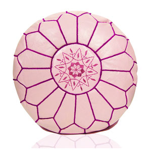 Almadih Leder Sitzkissen Rosa leather pouf Rose