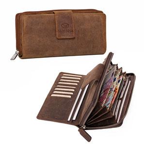 15261289df309 ALMADIH Leder Portemonnaie Geldbörse Geldbeutel Brieftasche ...