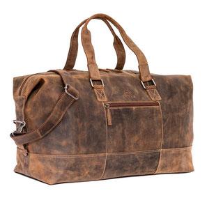 Almadih Leder Reisetasche Braun leather travel bag brown