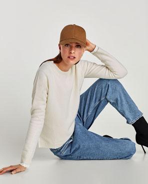 Zara ecru cashmere jumper