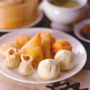 糯米シュウマイ・蓮の葉ちまき・特製肉まん