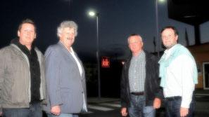 Vize-Bgm. Gottfried Haselmayer, Thomas Jascha, Werner Stöberl und Johann Bauer. ©Stadt Krems