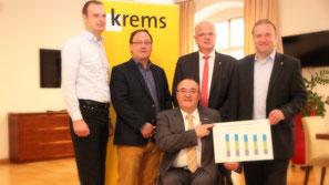 Reinhard Weitzer, Christian Braun, Albert Kisling, Reinhard Resch, Thomas Höhrhan. ©Stadt Krems