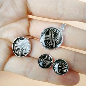 Circuit Accessories Ring, Anhänger und Ohrstecker