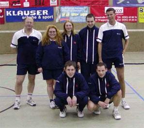 4.Mannschaft v.l.: Sergei Romanov, Sabine Krull-Jörgens, Kirsten Steinhage, ?, Carsten Adenheuer, Kai Döllermann und Michael Rottmann