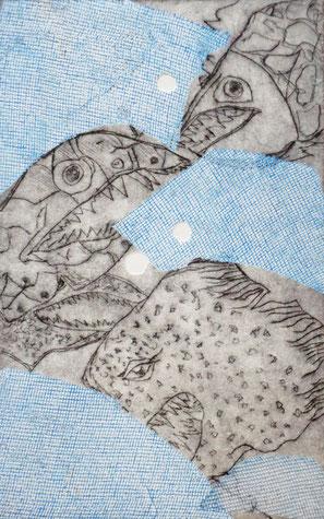 Fische VI - Radierung - 20x30 cm - 2015