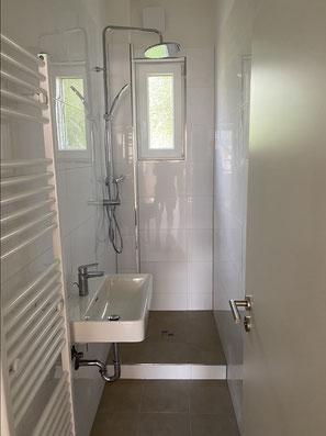 Badsanierung - Dusche gefliest