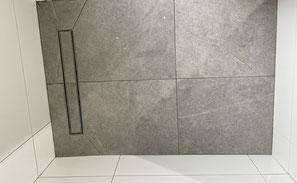 Dusche mit Großformat Fliesen 60x60