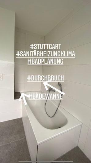 Badewanne - Durchbruch für ein größeres Badezimmer