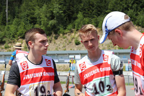 Lukas Wuzel, Fabian Scharf, Sebastian Dänzer - Sommerbiathlon Schützen SG Wörnitz Schützengilde