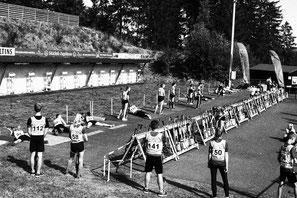Deutsche Meisterschaft Sommerbiathlon 2019 - Anschießen vor dem Wettkampf - Sommerbiathlon Schützen SG Wörnitz Schützengilde