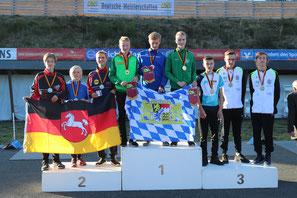 Sommerbiathlon Wörnitz Siegerehrung Deutsche Meisterschaft