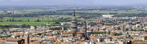 Novara, veduta aerea della città