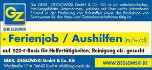Ferienjob / Aushilfen auf 450 Euro-Basis