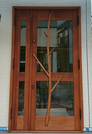 エステサロン 木製ドア 店舗用ドア