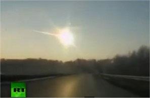 Météore observée en 2013 à Tcheliabinsk (sud de l'Oural)