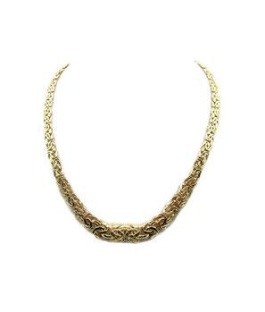 Girocollo in oro 18kt maglia bizantina
