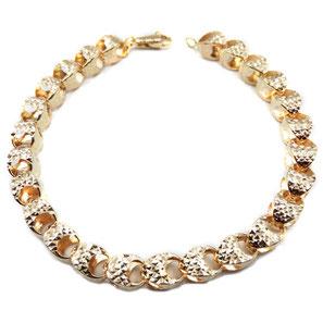 Bracciale in oro 18kt donna catena diamantata prezzi scontati