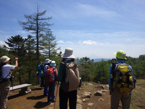 小さな分水嶺から富士山方面