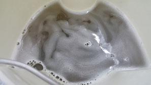 幌の洗浄 オープンカー ゴルフ6カブリオレ ソフトトップの汚れ