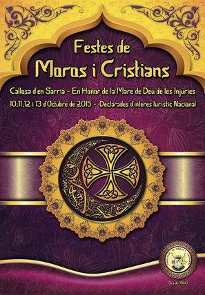 Moros y Cristianos en Callosa d'en Sarrià 2015 Cartel y Programa