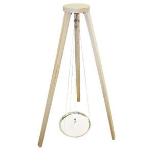Trépied pour pendule de sable, matériel à acheter pas cher de qualité. Pendule relaxante et apaisante. Pendule de sable de 124 cm accompagnée de son pendentif métal.
