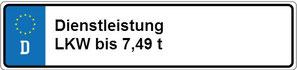 Dienstleistung LKW bis 7,49 t und sonstige Nutzfahrzeuge