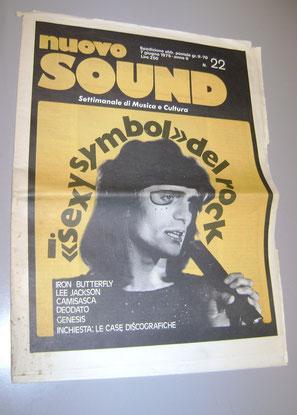 RENATO ZERO - NUOVO SOUND 1975 rivista prima copertina dedicata