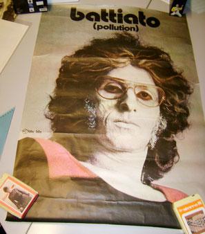 FRANCO BATTIATO (Pollution) manifesto stradale Cramps Records promozionale