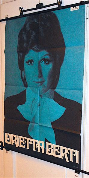 ORIETTA BERTI - manifesto promozionale anni 60