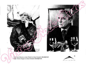 david bowie, andy warhol, basquiat