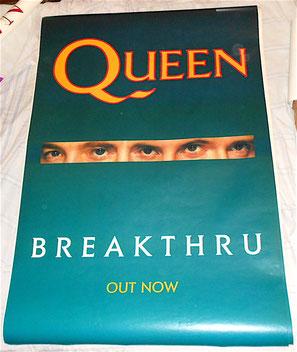 QUEEN - Breakthru  - manifesto Billboard gigante promozionale da strada