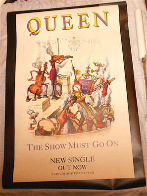 QUEEN - The Show Must go On - Innuendo - Manifesto Billboard gigante promozionale da strada