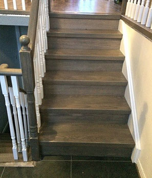 stairs after refinished