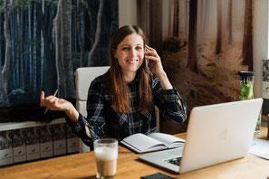 Homeoffice, Online-Coach, Online-Makler, Digitaler Makler, immer da, Telefon, Email, Skype, Erreichbarkeit, Flexiblität, Freiheit