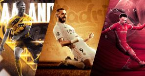 Football Design - Salah-Mané / Aubameyang-Lacazette / Reus-Alcacer