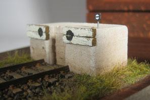 Betonprellbock gestaltet