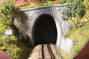 Tunnelportale gestaltet