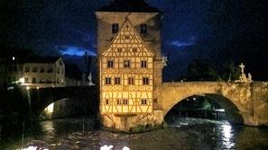 altes Rathaus Bamberg Rathausbrücke Fachwerkhaus